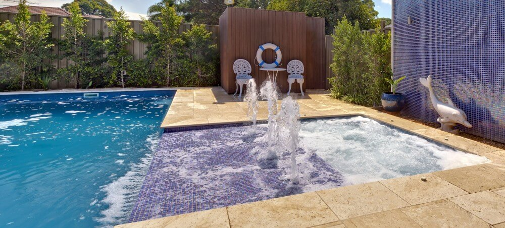 Nowra Local Pools and Spas Compass Pools swimming pool with sunpod water feature