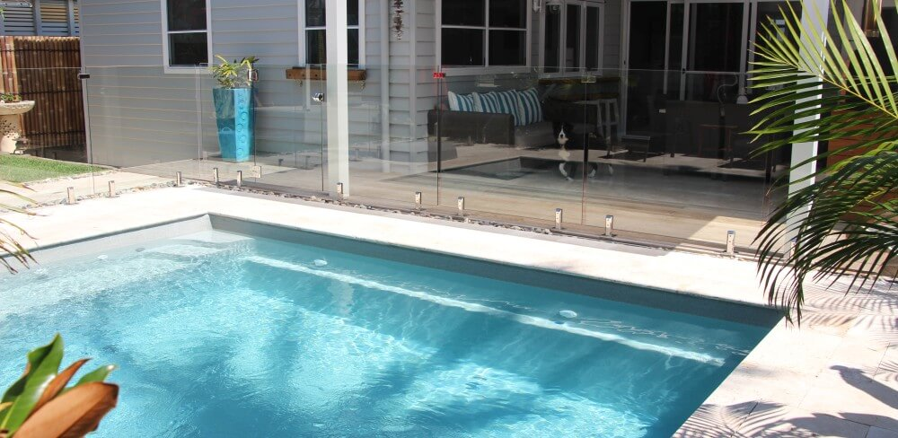 Nowra Local Pools and Spas Simple landscaping around a plunge pool