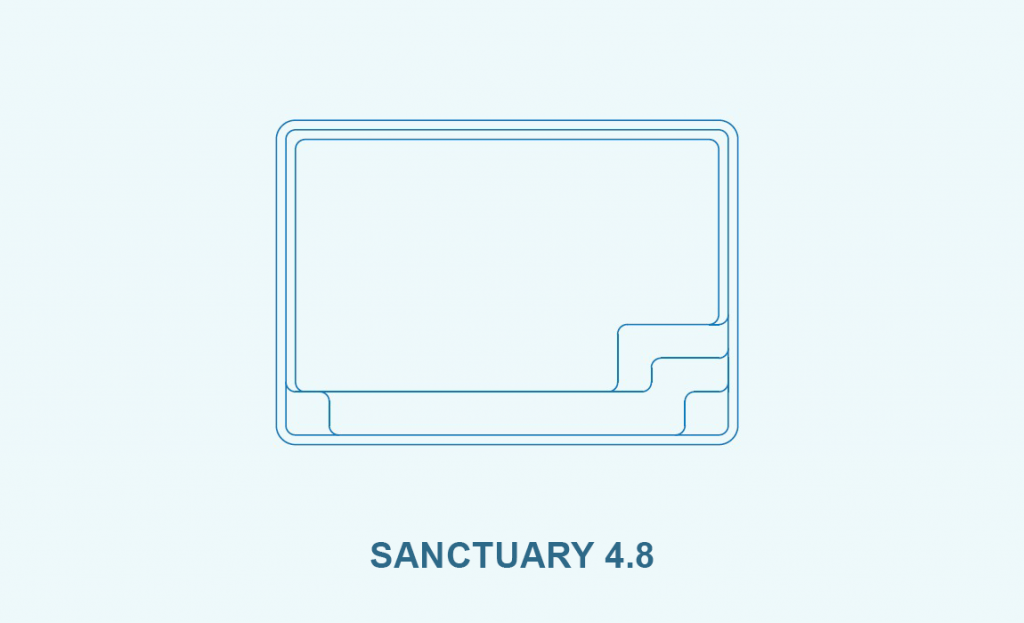 Compass pool outlines Sanctuary 4.8 pool outline
