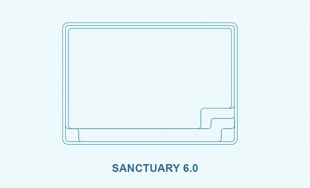 Compass pool outlines Sanctuary 6.0 pool outline