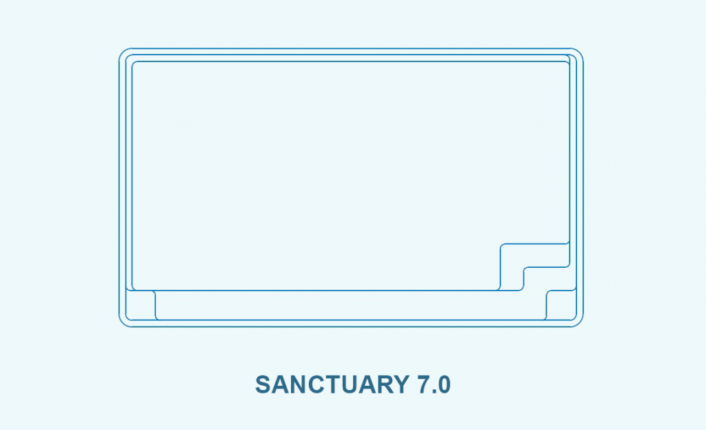 Compass pool outlines Sanctuary 7.0 pool outline