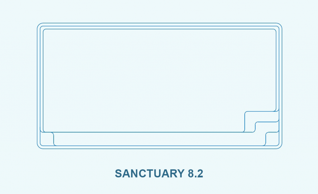 Compass pool outlines Sanctuary 8.2 pool outline